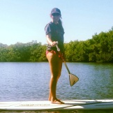 Paddleboarding at Ft. Desoto Park